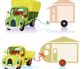 Tag car cartoon vector set 04