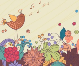 Hand drawn cheerful background vector set 01