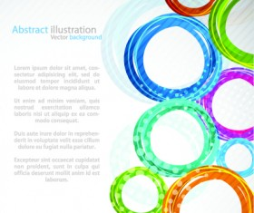 Colorful circles backgrounds art 01