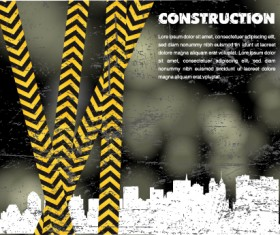 Elements of construction template design vector 01