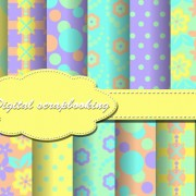 Link toSet of flower paper for scrapbook vector material 05