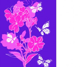 Hand drawn flowers vector backgrounds art 01