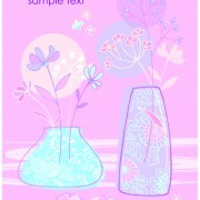 Link toHand drawn flowers vector backgrounds art 04