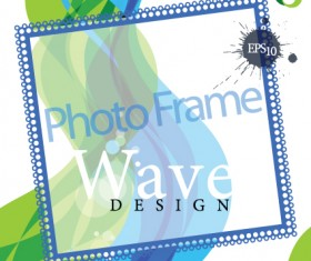 Stylish photo frame design vector 02