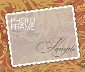 Stylish photo frame design vector 03