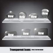 Link toCute glass icons vector graphics 01