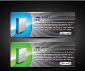 Webpage design decorative element set 4