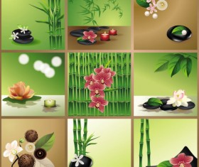 Bright bamboo design elements