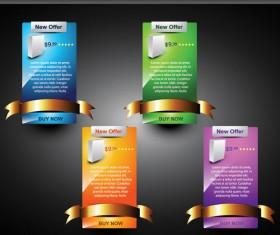 Webpage design decorative element set 2