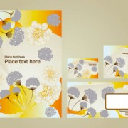 Link toBright pattern business card templates 02