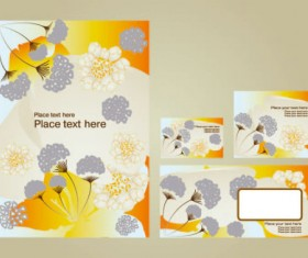Bright pattern business card templates 02