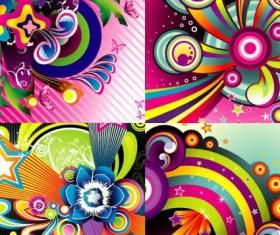 Set of Wonderful Backgrounds