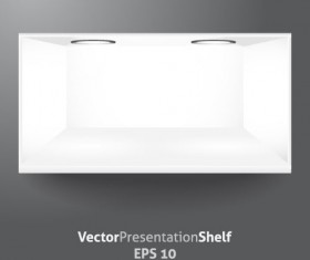 White Showcase vector