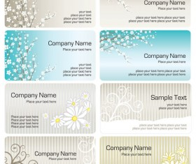 Bright pattern business card templates 01