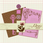Link toPostcard love with stamp vector 04