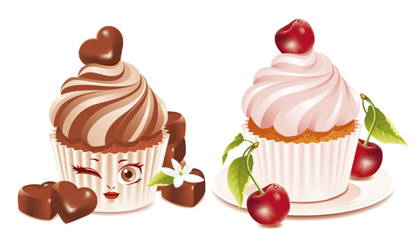 Dessert cake vector graphics