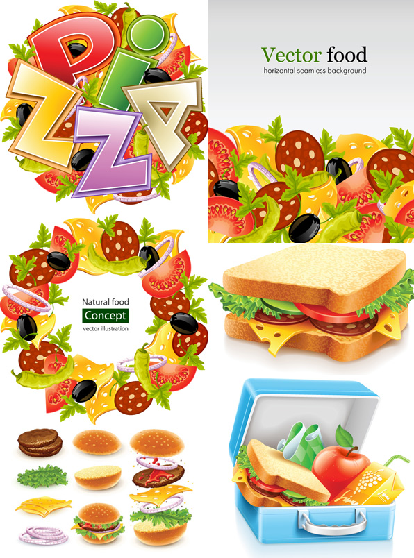 Fast Food Vector Vector Food Free Download