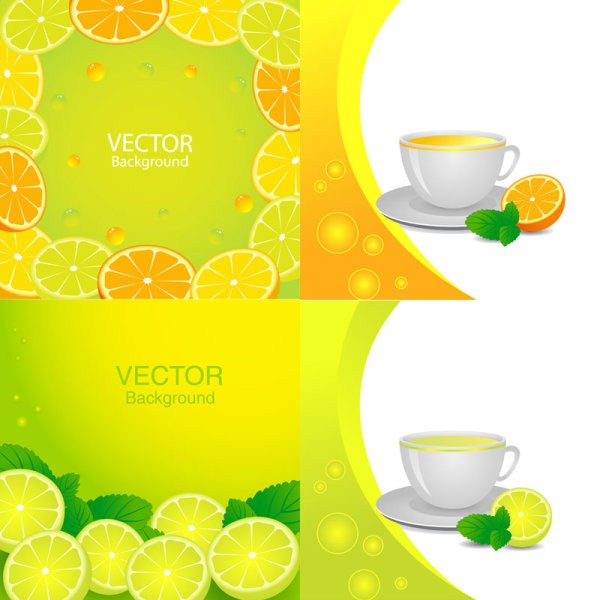 Fresh orange juice elements design elements