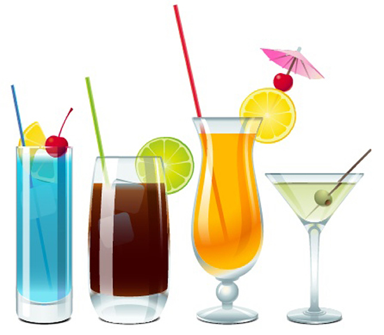 Mixed Drink Cocktail Art Vector Vector Food Free Download