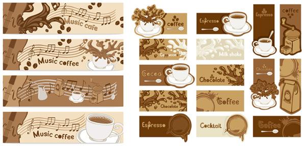 Coffee banner art vector