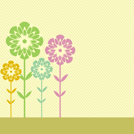 Flower shading card background vector set