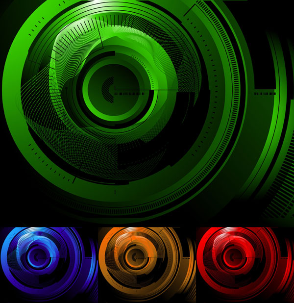 High tech style background vector graphic
