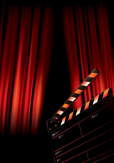Movie poster background art vector free download