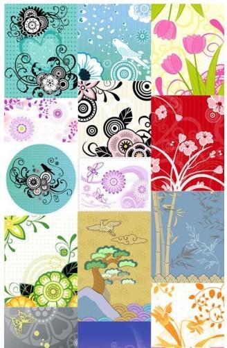 Decorative pattern flower modern background vector material