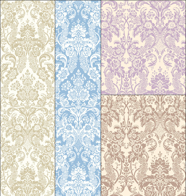 Antique Arnage decorative pattern background vector