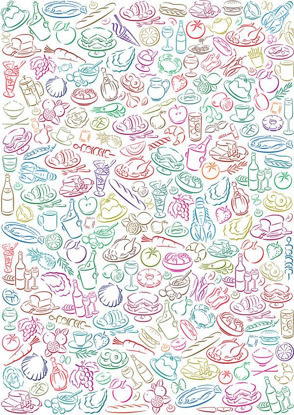 Lovely diet background art