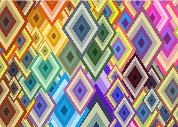 Diamond background vector graphic