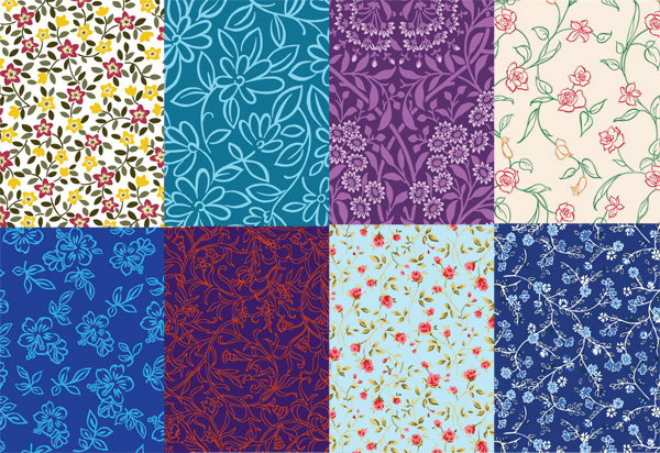 Lovely small decorative pattern background vector art