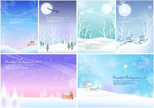 Winter snow background design vector