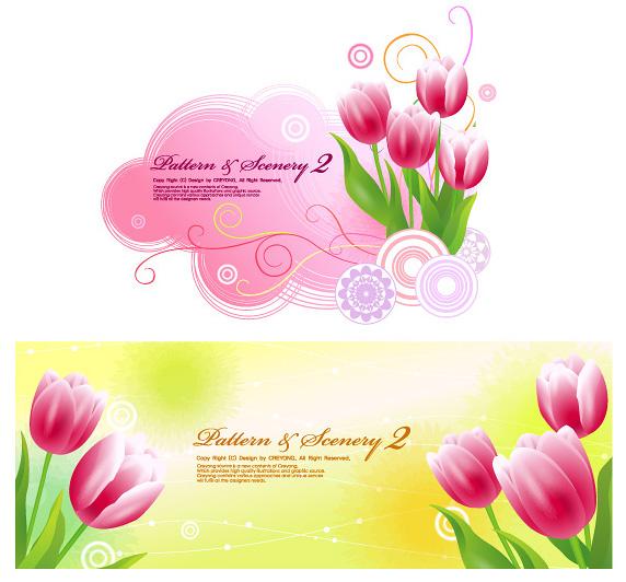 Tulip fantasy background vector