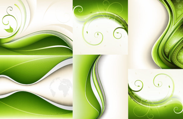 Green dynamic background art vector - Vector Background free download