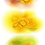 Link toYellow floral background