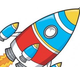 Cartoon style rocket