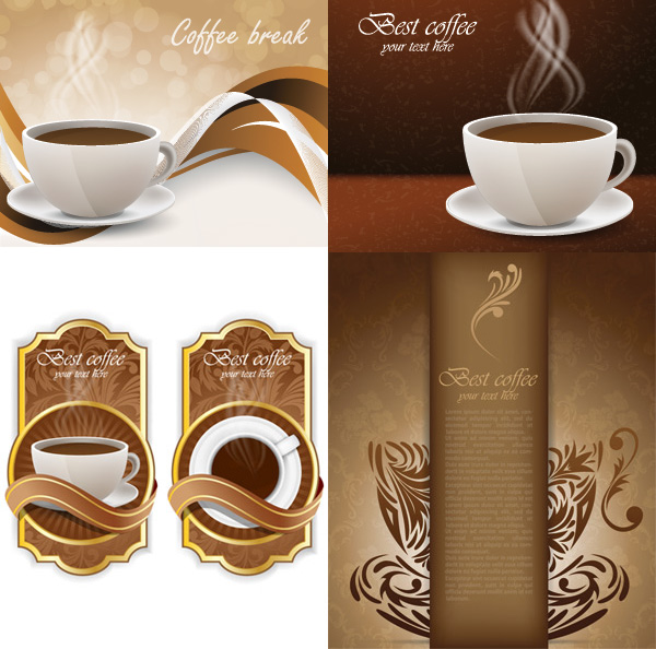 Coffee background - Vector Food free download