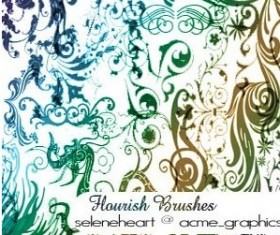flourishes Photoshop Brushes