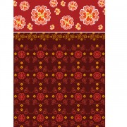 Link toFlowers decorative pattern background design vector