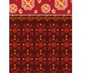 Flowers decorative pattern background design vector