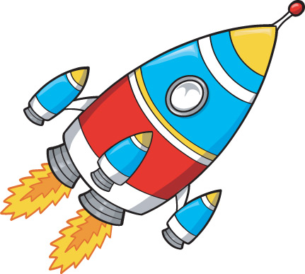 cartoon style rocket free download