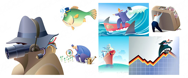 Cartoon Business illustration vector graphic