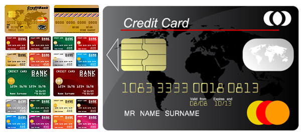 Credit Card Template Design Vector