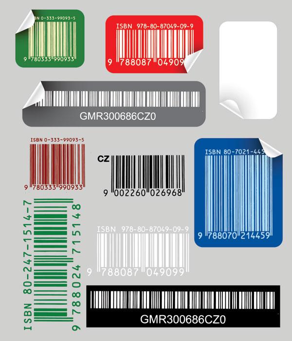 Bar code stickers art vector