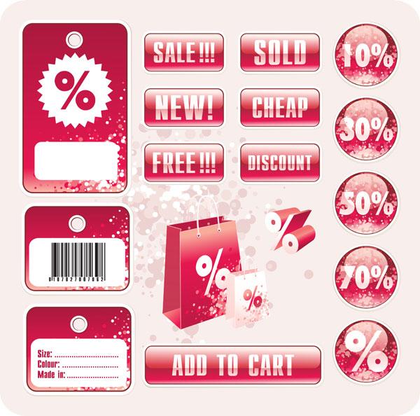 Discount tag design elements