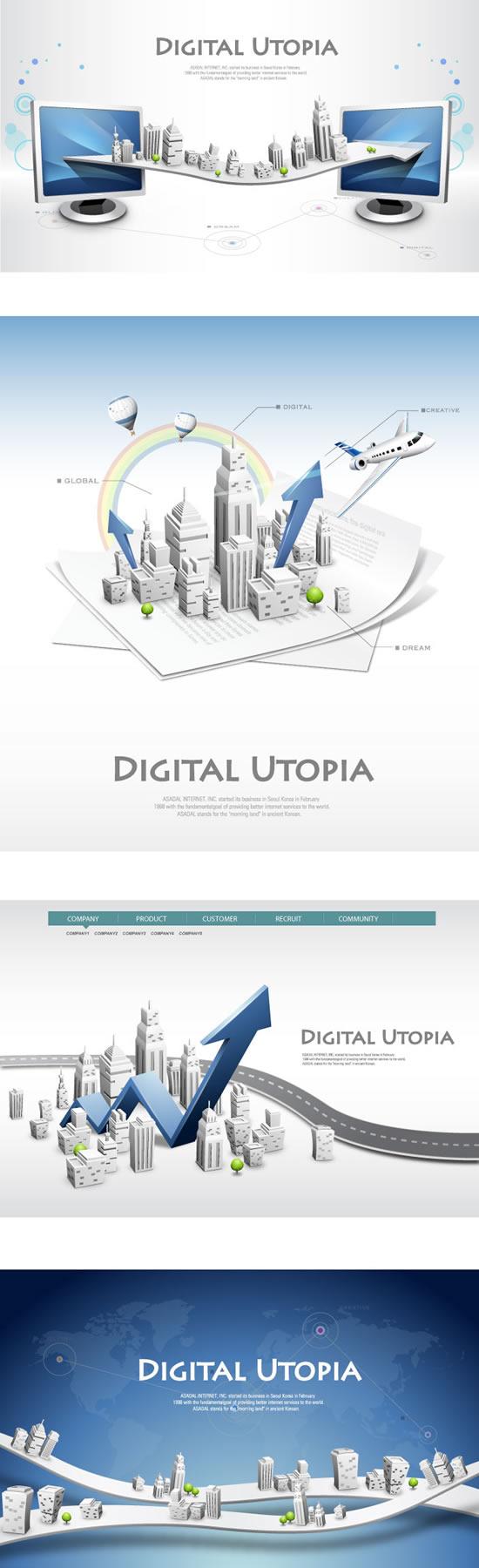 Network information business sea design vector