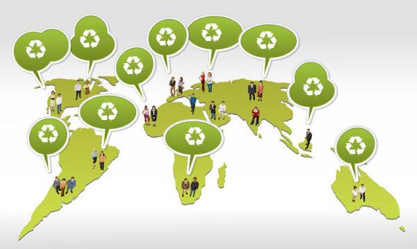 Environmental protection dialog vector Graphic