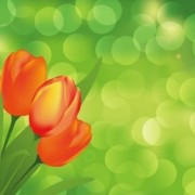 Link toFlower with green art background vector graphic art