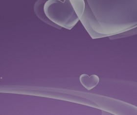 Transparent heart background vector